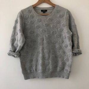 Lord&Taylor French Terry Polka Dot Sweater